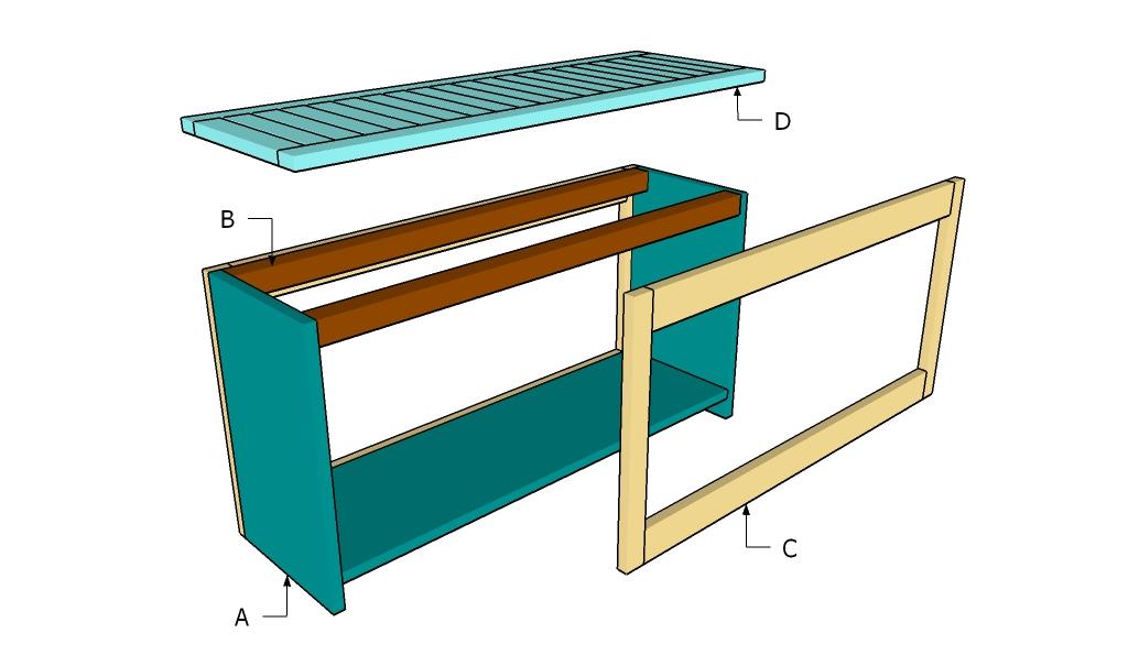 Building a spa bench