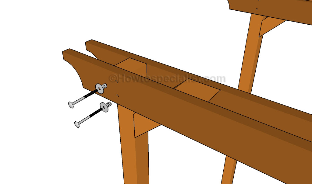 Inserting the screws into place