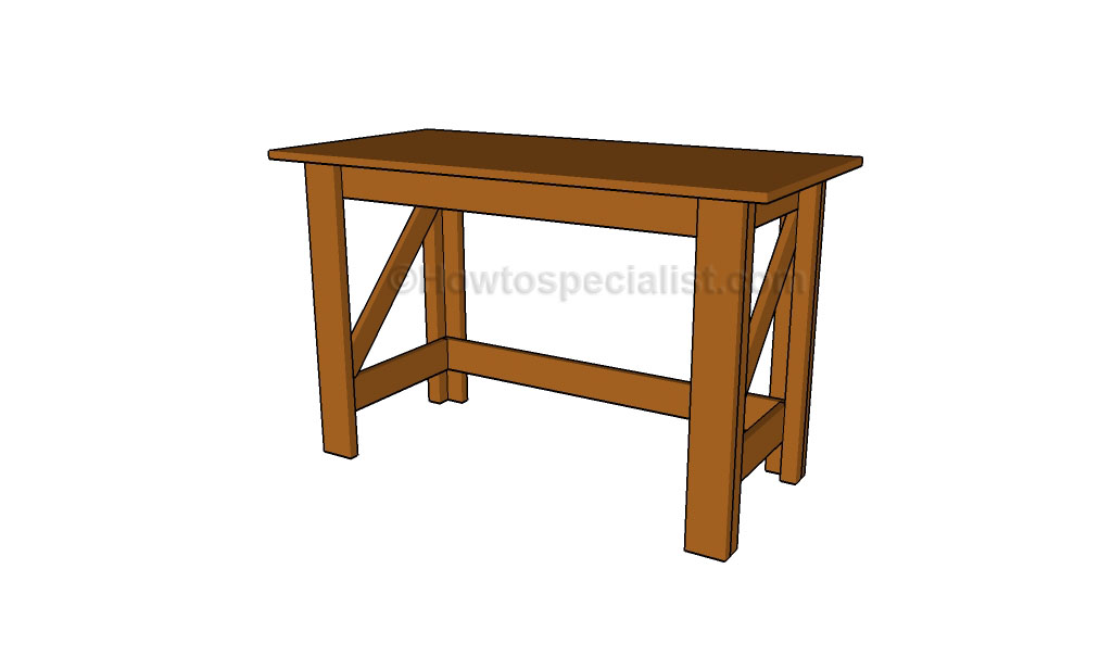 simple desk design plans