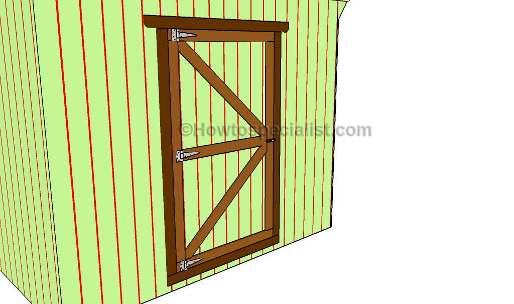 How to build a shed door howtospecialist how to build for Double door shed plans