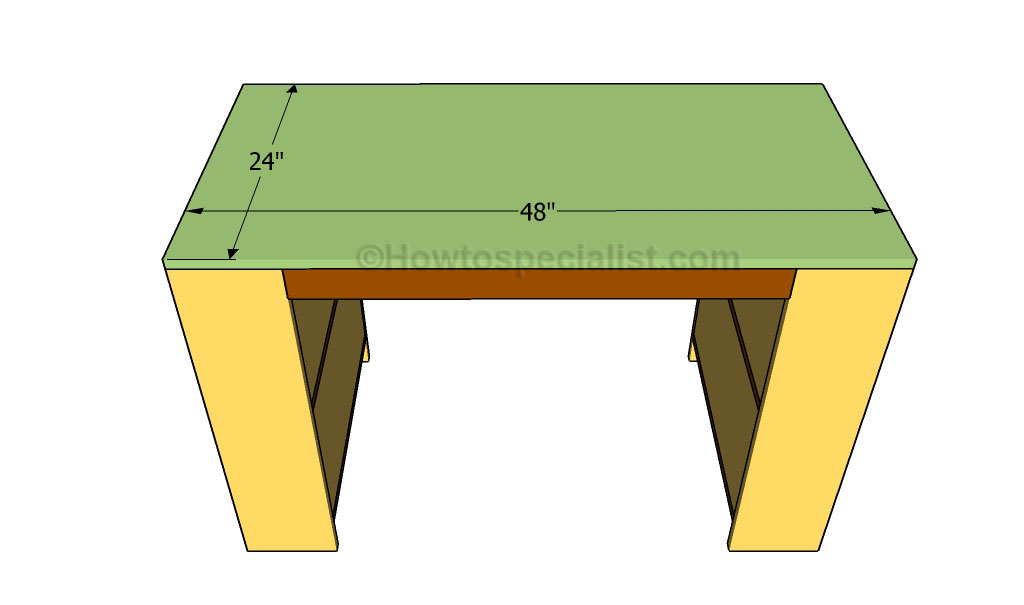Attaching the tabletop