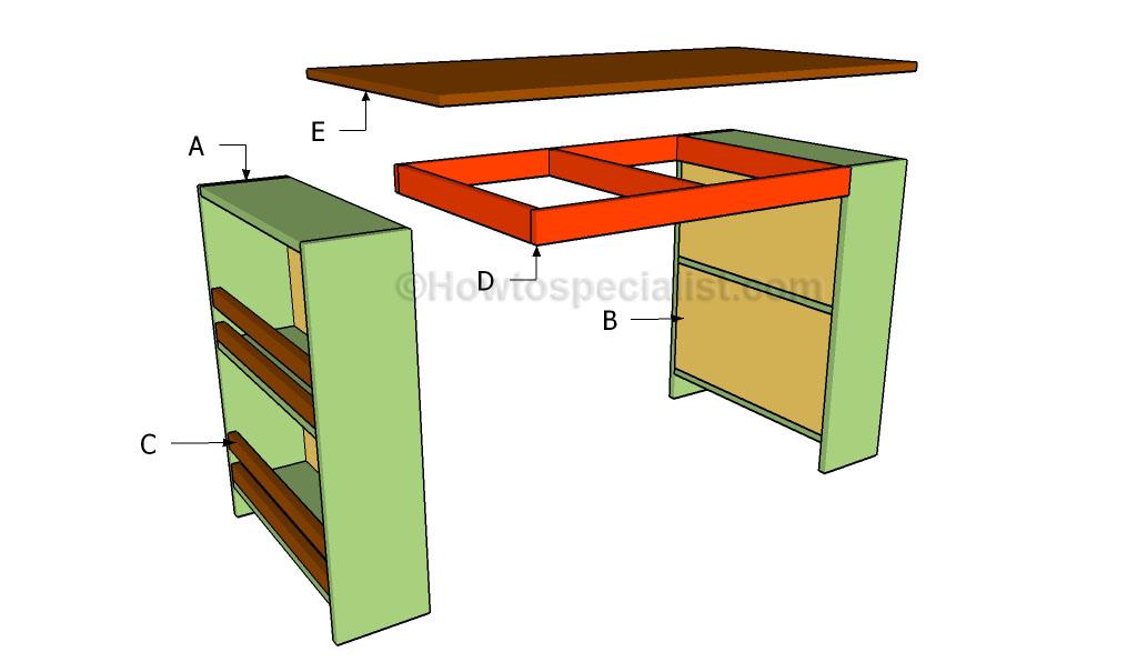 Building a kids desk