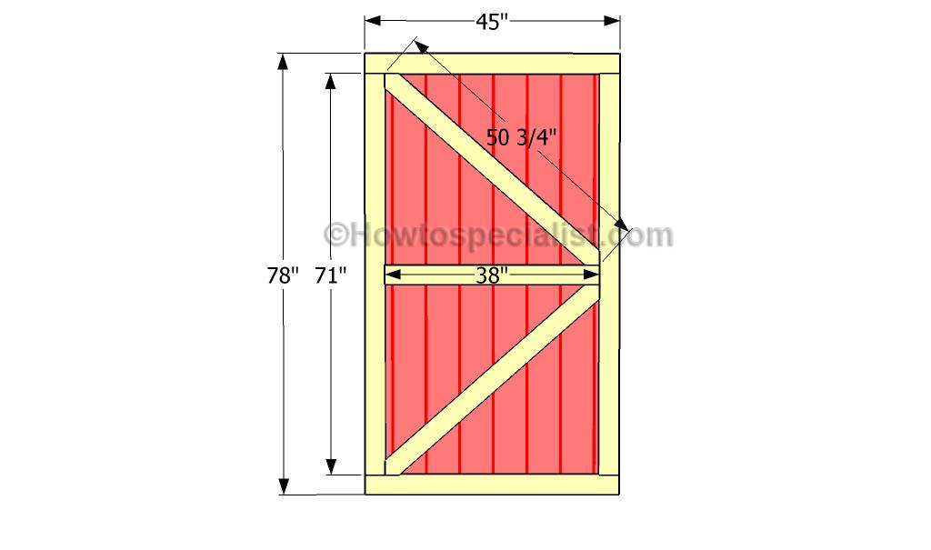 how to make a sheddoor
