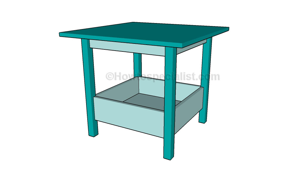 Play table plans howtospecialist how to build step by for Diy play table plans
