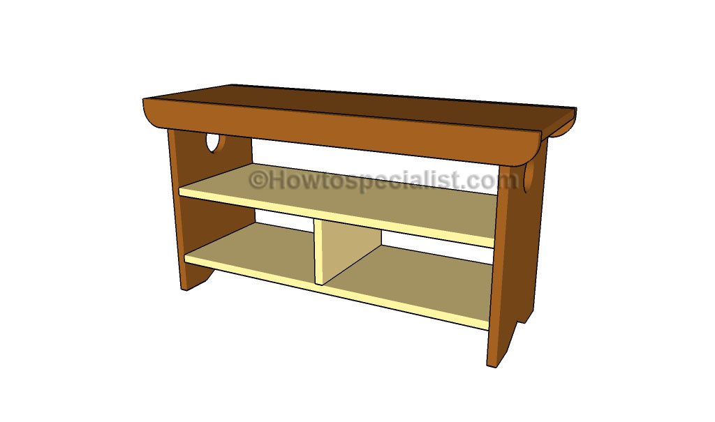 Wood Storage Bench Plans How To Build A Easy Diy Woodworking | Apps ...