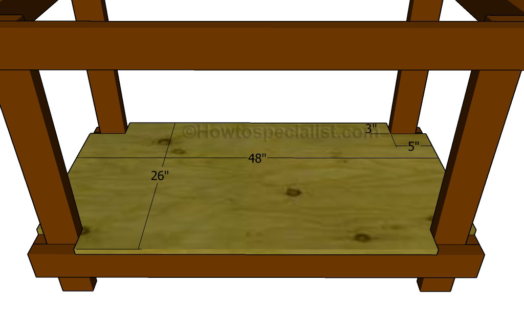 How to build a work table howtospecialist how to build for Table th bottom