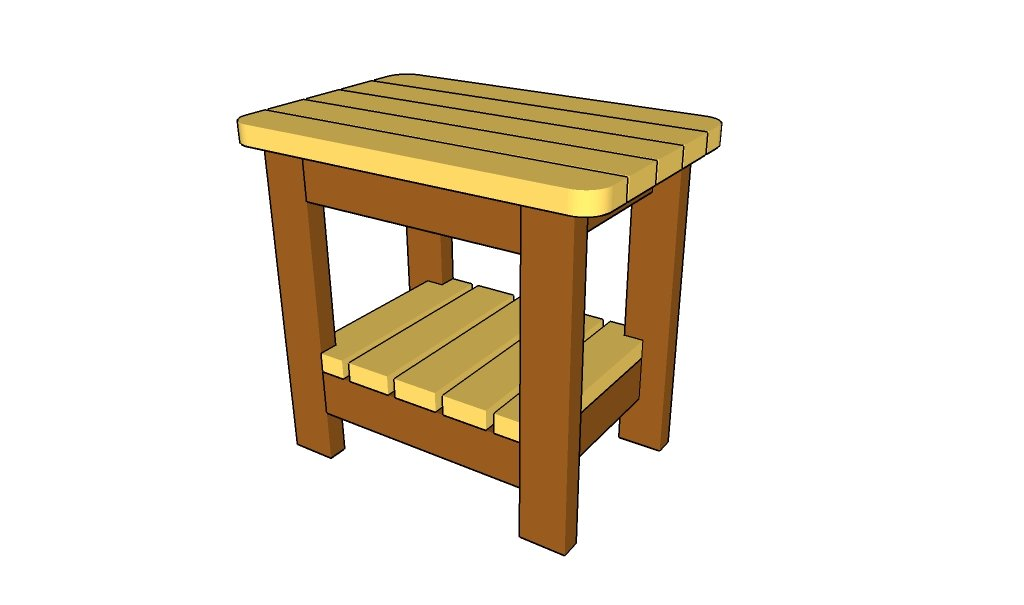 Free outdoor end table plans quick woodworking projects for Table design 10 personnes