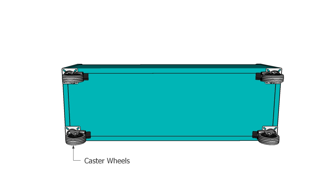 Attaching the caster wheels