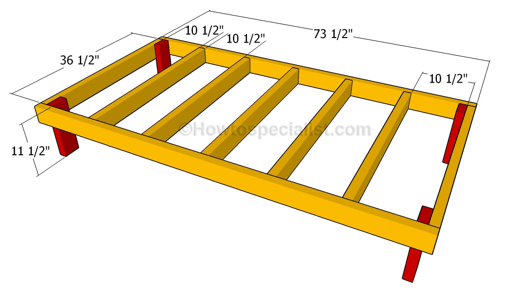 how to build a double dog house building the floor frame