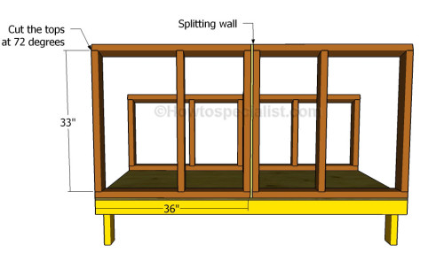 Building the front wall frames