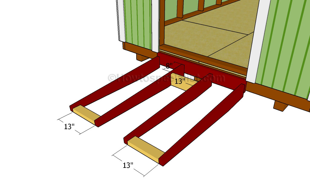 to build a shed ramp | HowToSpecialist - How to Build, Step by Step ...