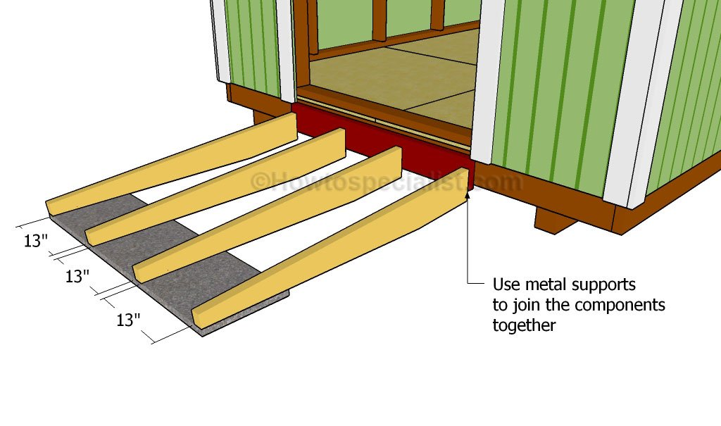 Diy backyard storage shed plans, how to build an outdoor shed ramp ...