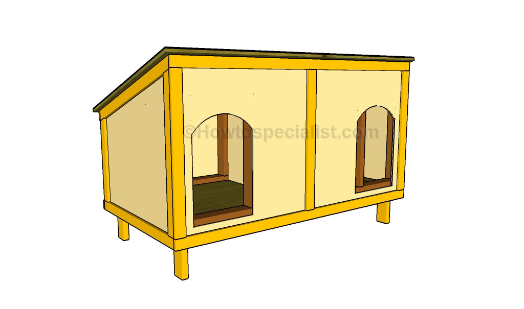 How To Build A Double Dog House Howtospecialist How To Build - Build-a-dog-house