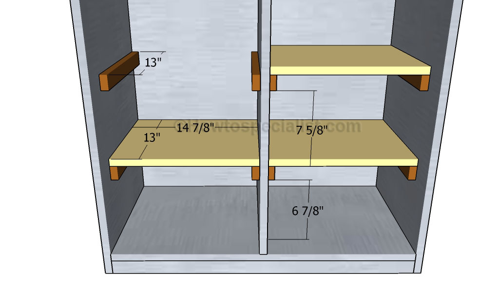 Wooden Locker Plans Howtospecialist How To Build Step