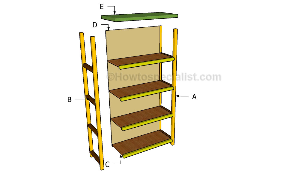 building wooden bookshelf quick woodworking ideas