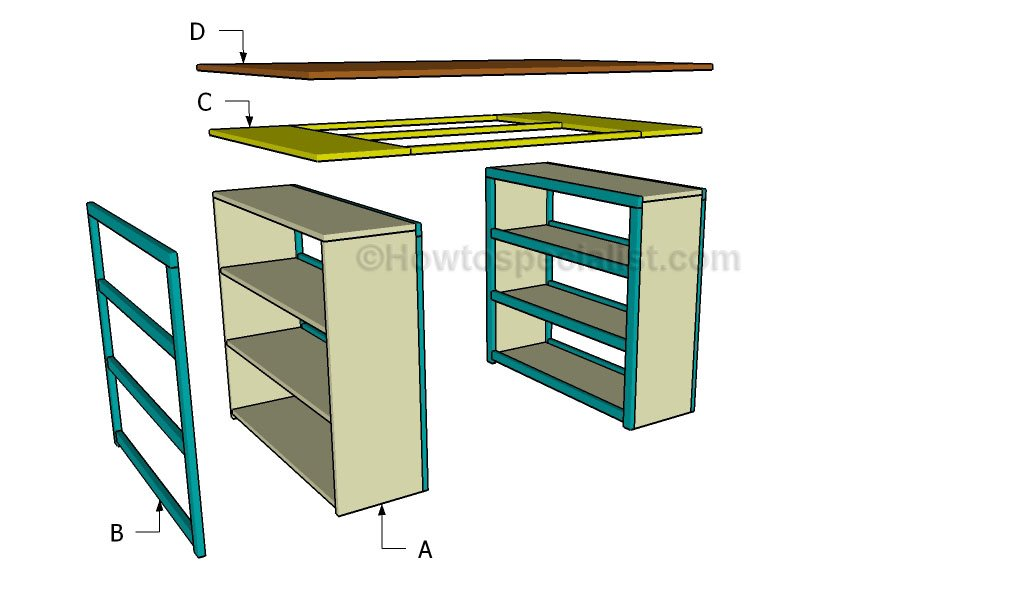 How to build a craft table howtospecialist how to for Diy craft table plans