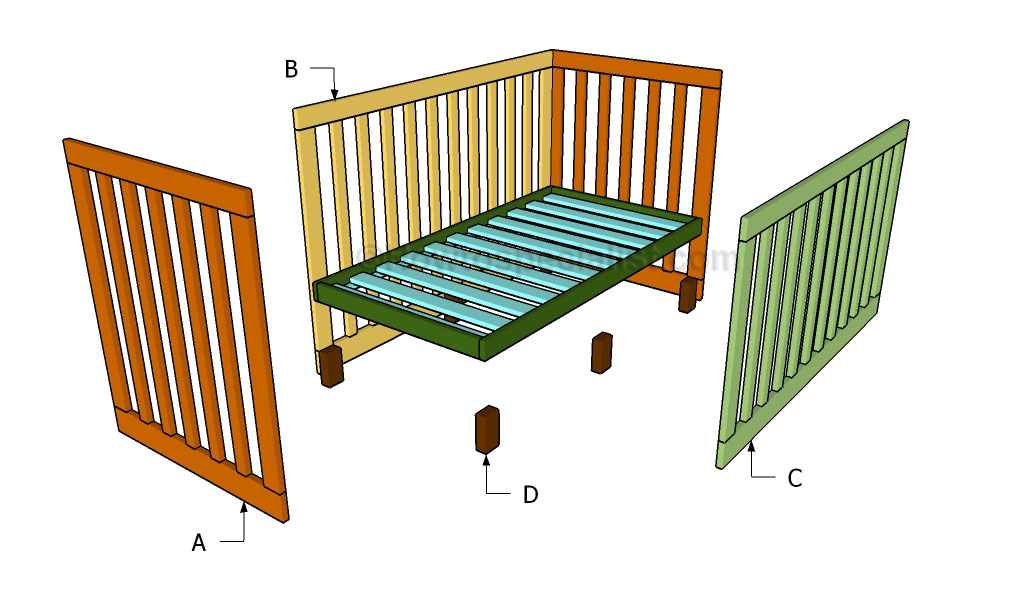 Wooden Building A Baby Crib Pdf Plans