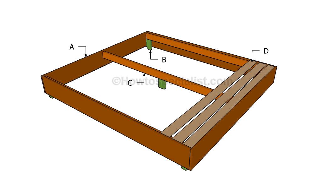 how to build a king size waterbed frame