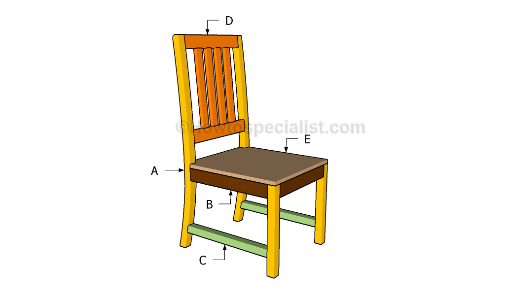Wooden Kitchen Chair Plans Furnitureplans