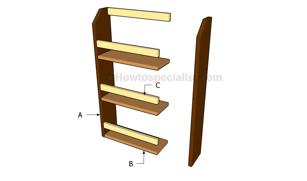 Magazine Stand Designs : Magazine rack plans howtospecialist how to build step