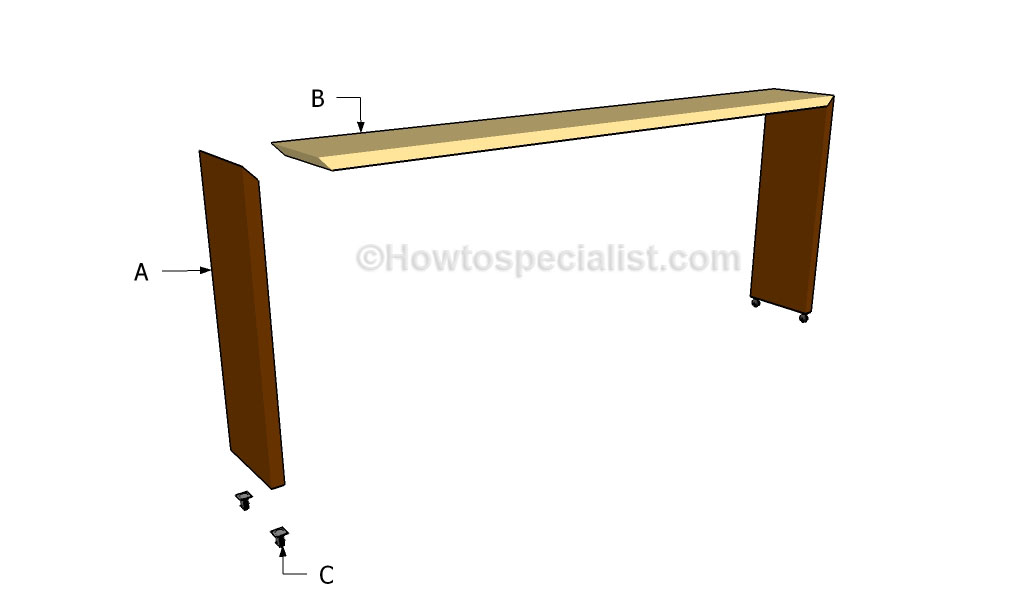 Rolling Bed Table Images