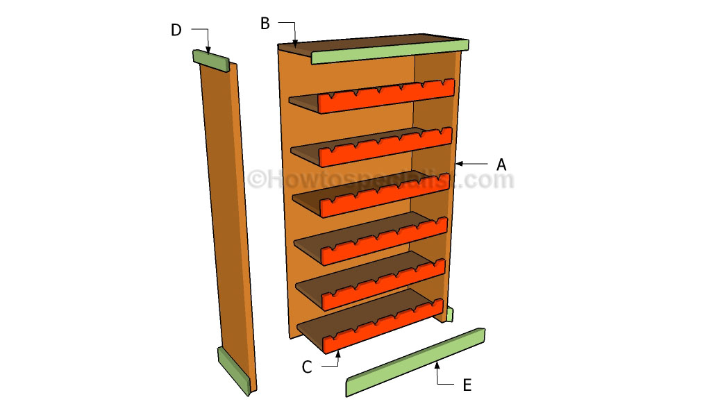 Wooden wine rack plans howtospecialist how to build for How to build a wine rack