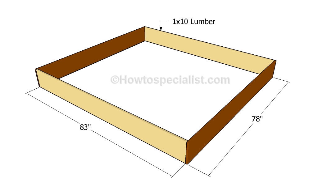 Woodworking king size bed frame building plans PDF Free Download