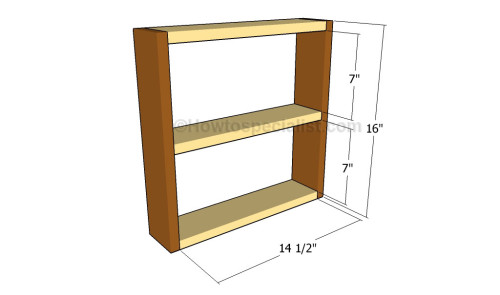Building the frame of the armoire