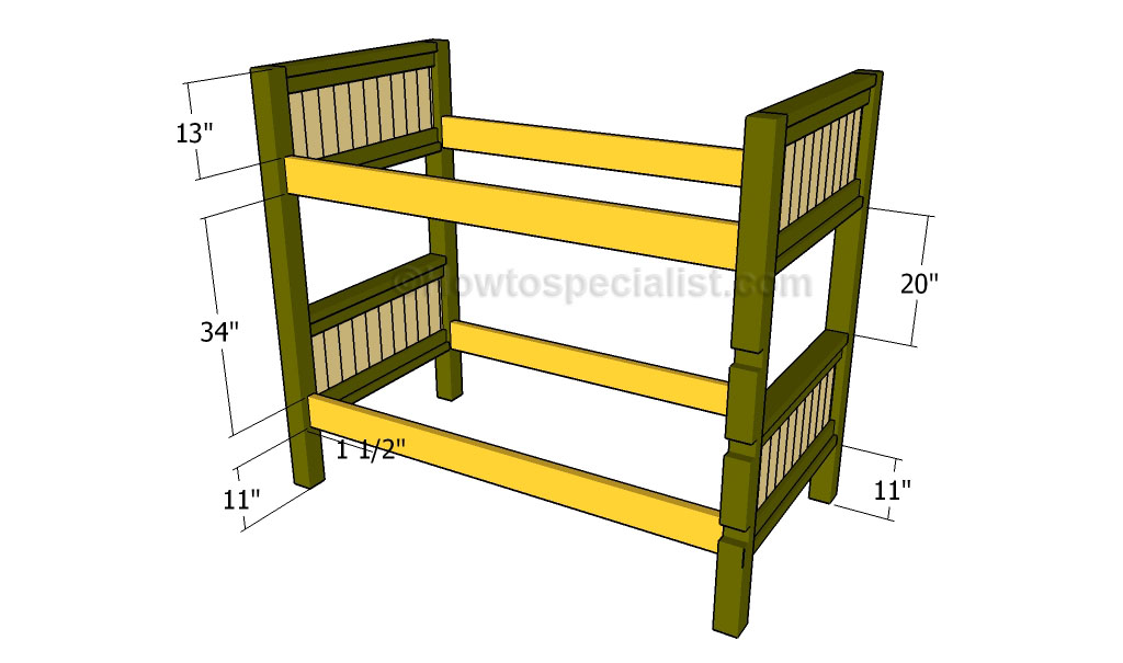 How to build a bunk bed | HowToSpecialist - How to Build, Step by Step ...