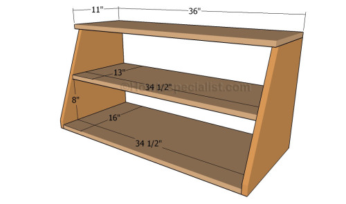 how to build a shoe organizer howtospecialist how to build step by step diy plans. Black Bedroom Furniture Sets. Home Design Ideas