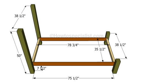 Building the frame of the twin bed