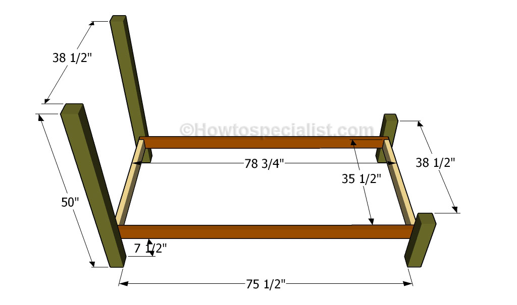 twin size bed frame plans  howtospecialist  how to build, step, Headboard designs
