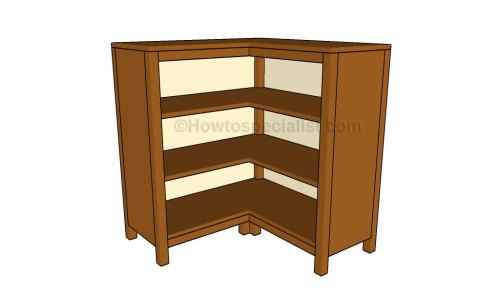 Corner bookcase plans