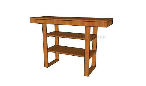 Diy console table plans