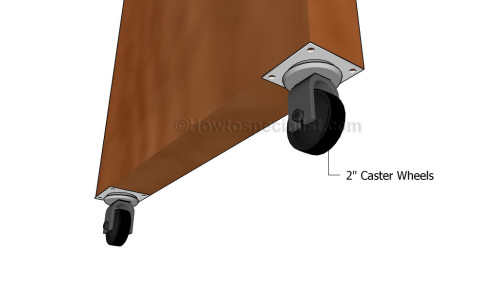 Fitting the caster wheels