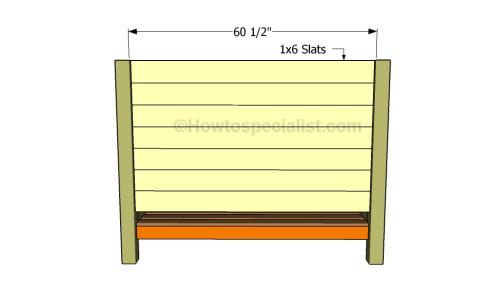 Fitting the headboard slats