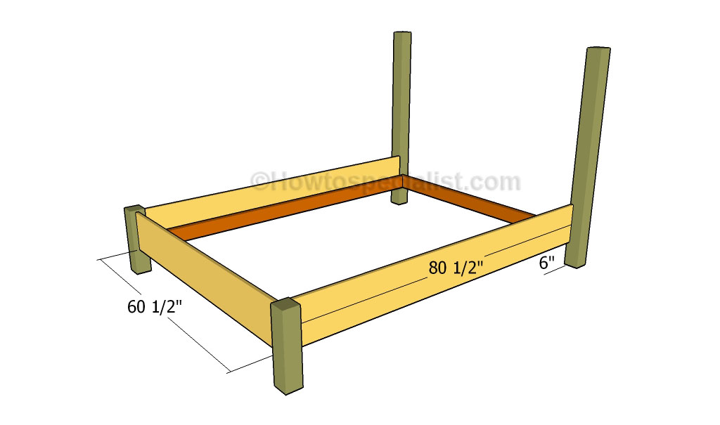 plans for building a queen size bed frame