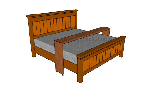 Rolling bed table plans