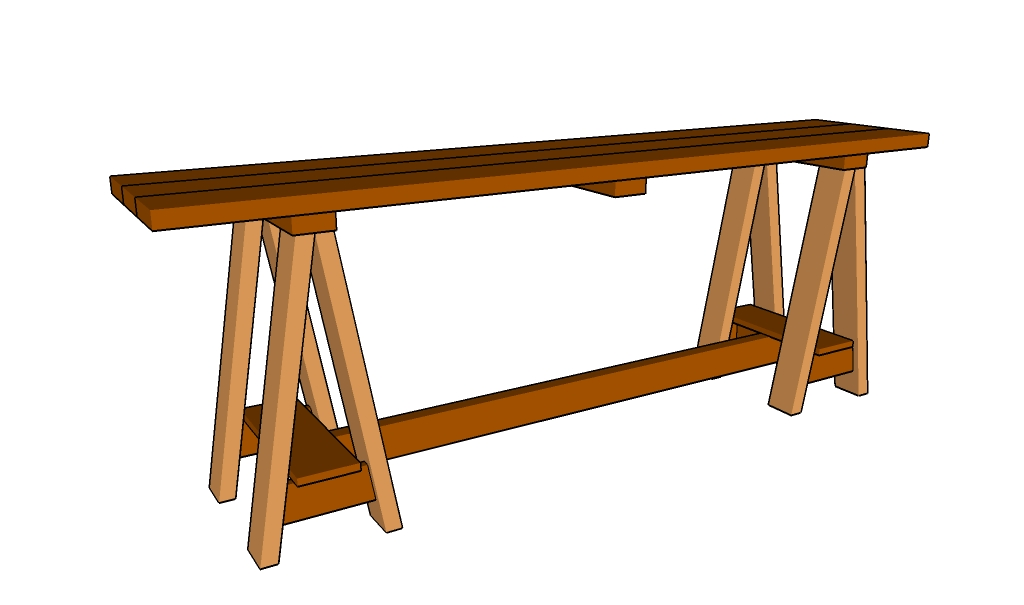 Sawhorse Console Table Plans
