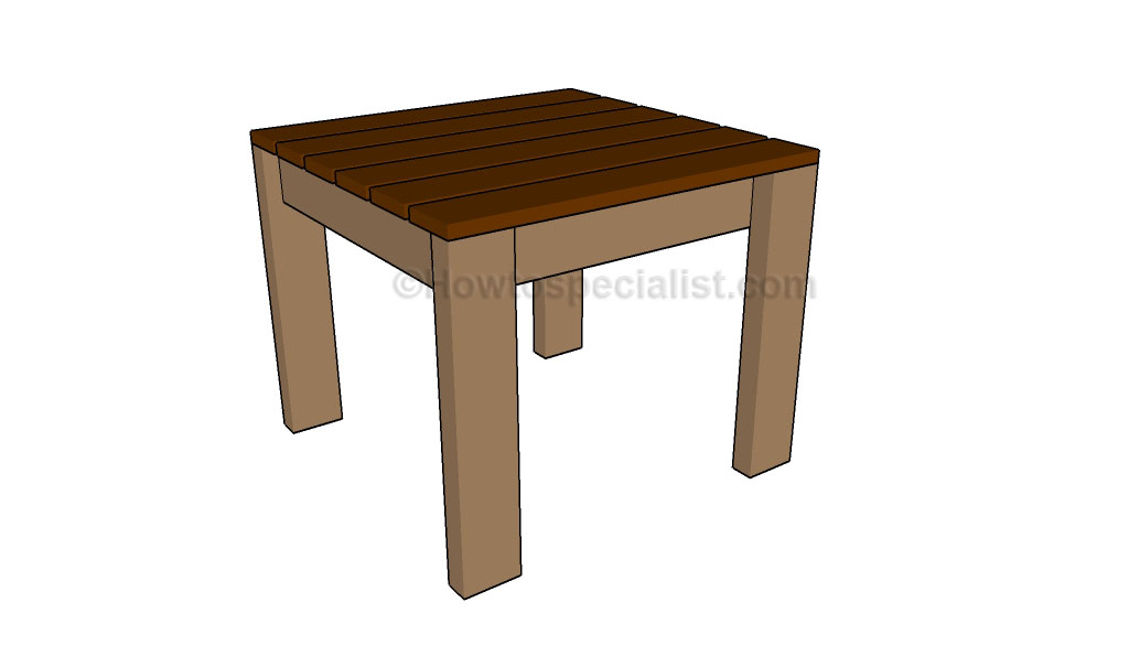 Simple End Table Plans | HowToSpecialist - How to Build, Step by Step ...