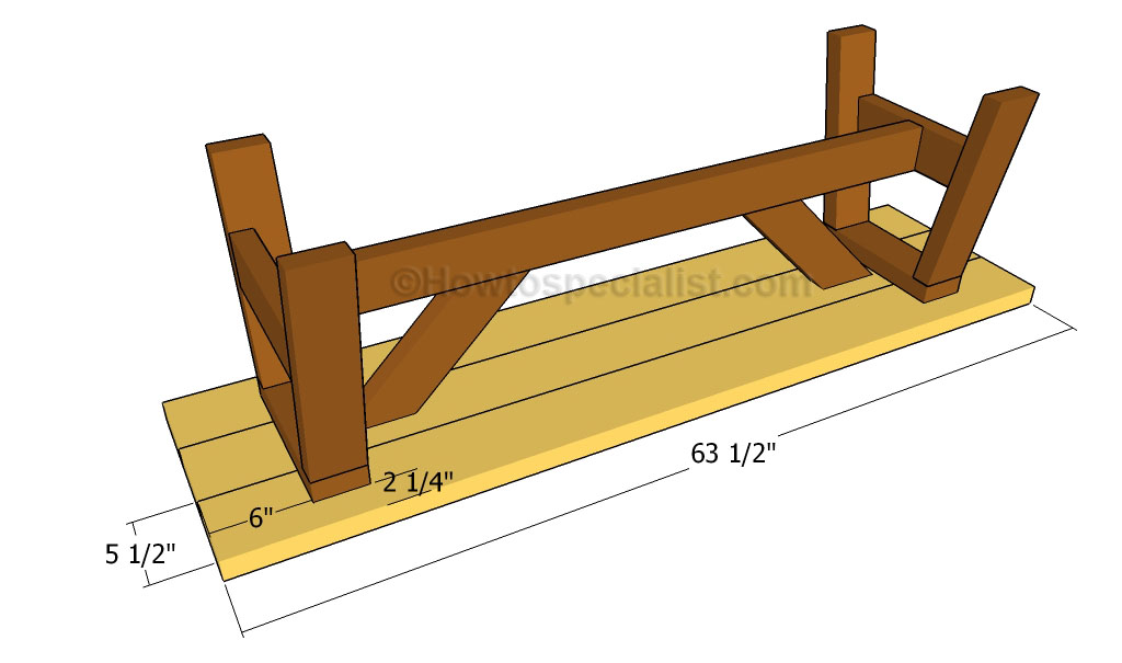 Wooden Bench Plans Howtospecialist How To Build Step By Step