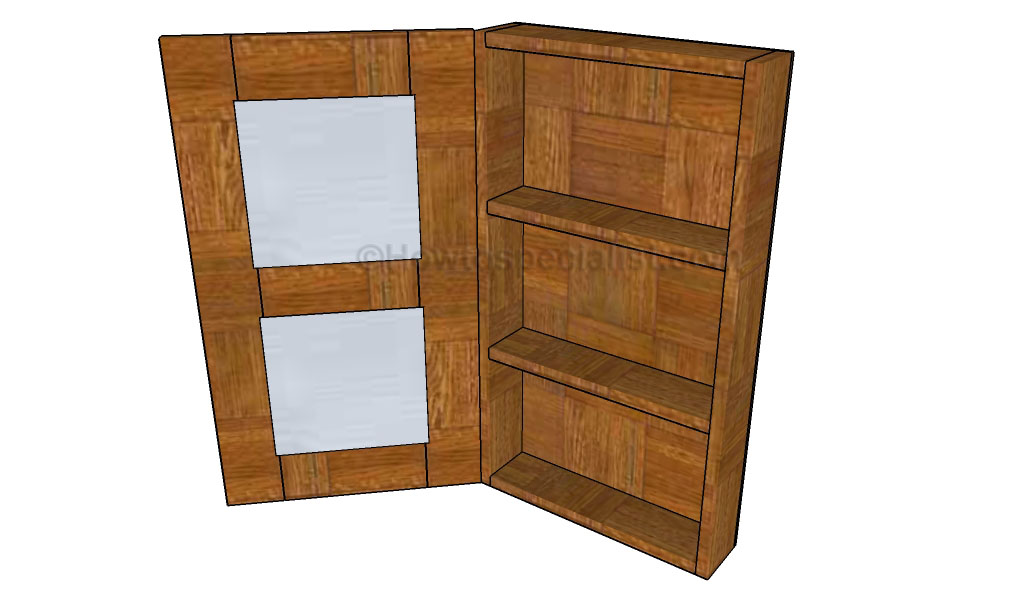 bathroom armoire plans howtospecialist how to build. Black Bedroom Furniture Sets. Home Design Ideas