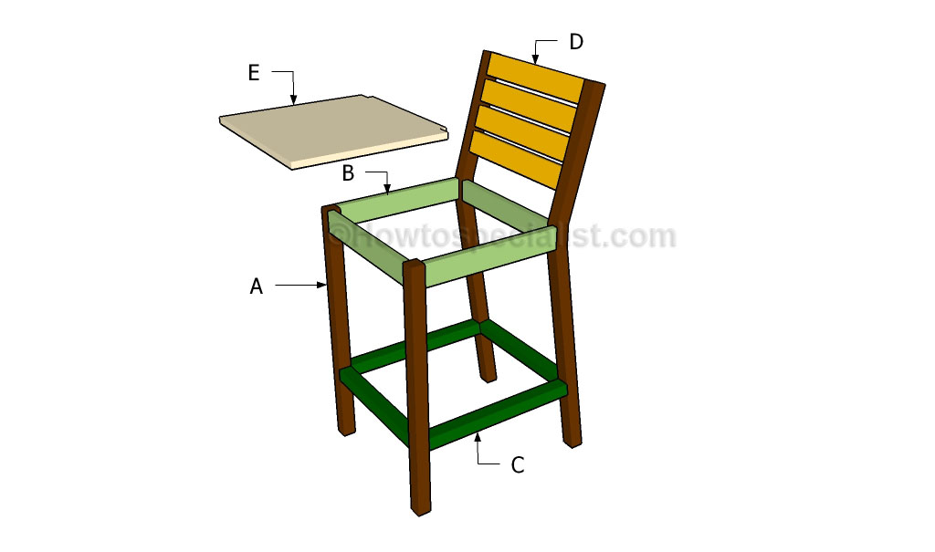 DIY Build Your Own Bar Stool Plans Plans Free