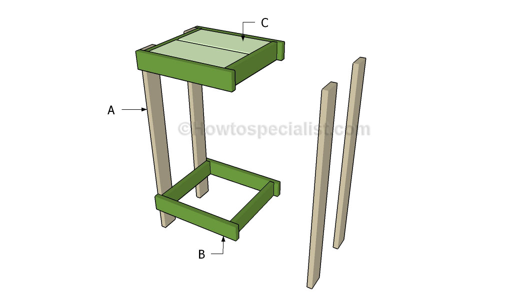 Children 39 S Wooden Step Stool Plans How To Build A Plant: how to build a tiered plant stand