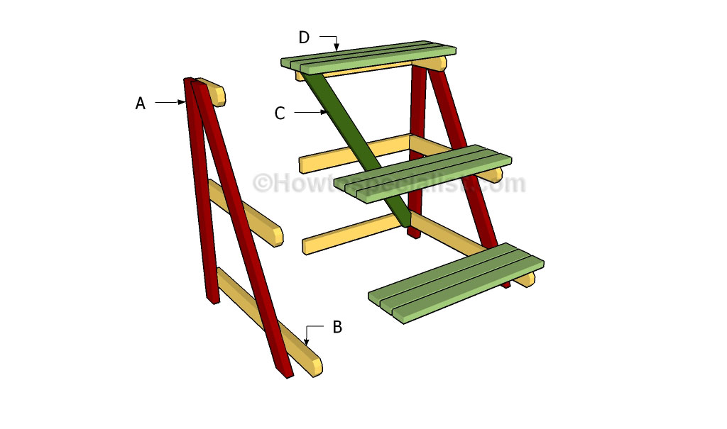 Outdoor plant stand plans howtospecialist how to build for How to build a stand