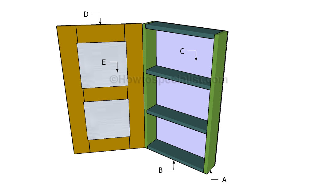 bathroom armoire plans  howtospecialist  how to build, step by, bathroom cupboard plans, bathroom shelving plans