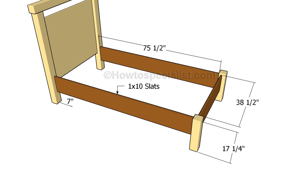 Twin Bed Plans Howtospecialist How To Build Step By