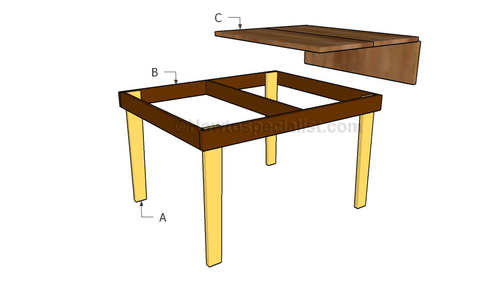 Building the drop-leaf table
