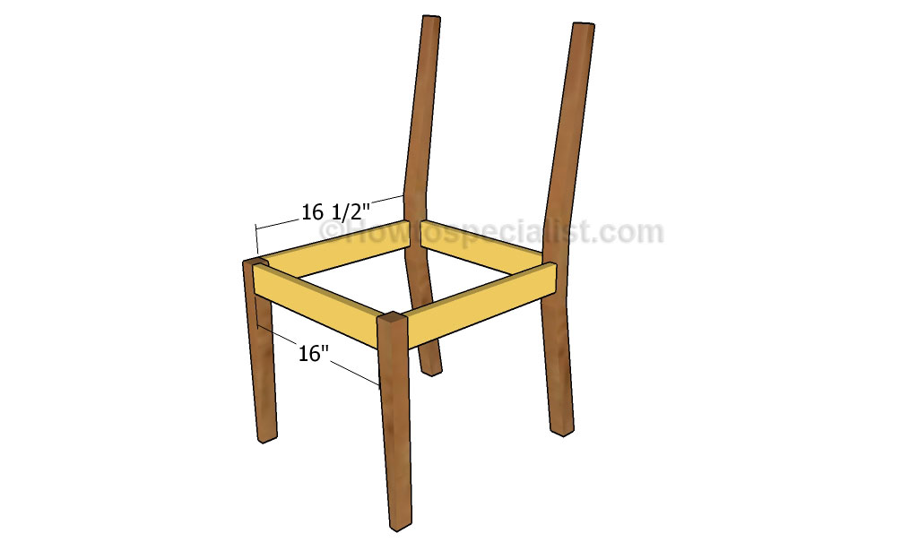 Building The Frame Of Chair