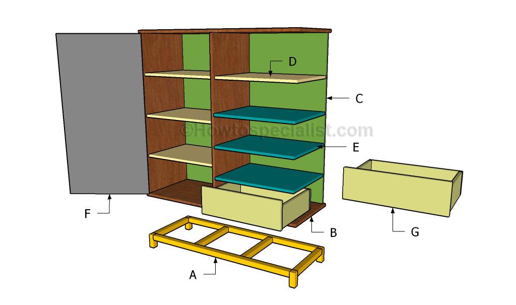 Building the secretary desk